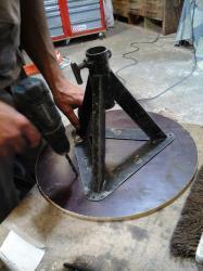 Fabriquer Chandelle fabrication trépied parage